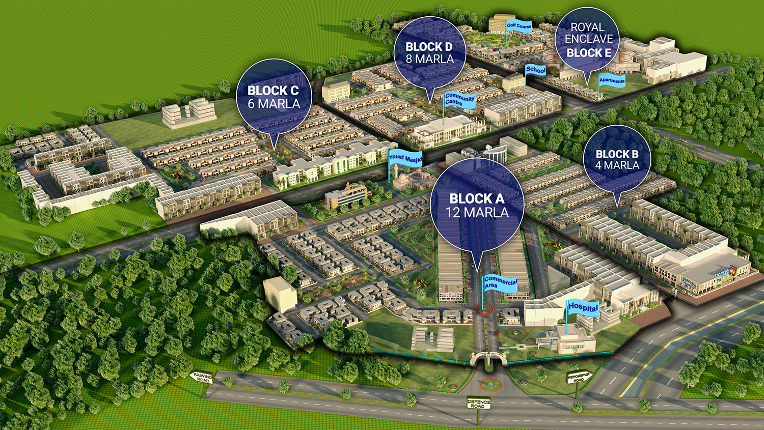 royal residencia map www.propertycentral.pk